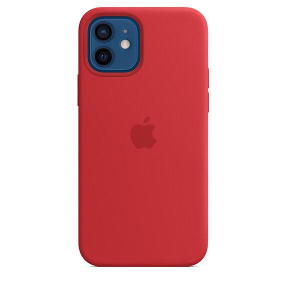 Силиконов Калъф от Apple за iPhone 12/12 Pro с MagSafe - (PRODUCT)RED