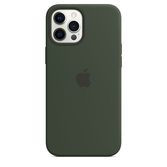 Силиконов Калъф от Apple за iPhone 12 Pro Max с MagSafe - Cypress Green (Seasonal Fall 2020)