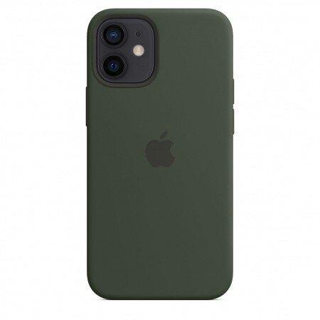 Силиконов Калъф от Apple за iPhone 12 mini с MagSafe - Cypress Green (Seasonal Fall 2020)