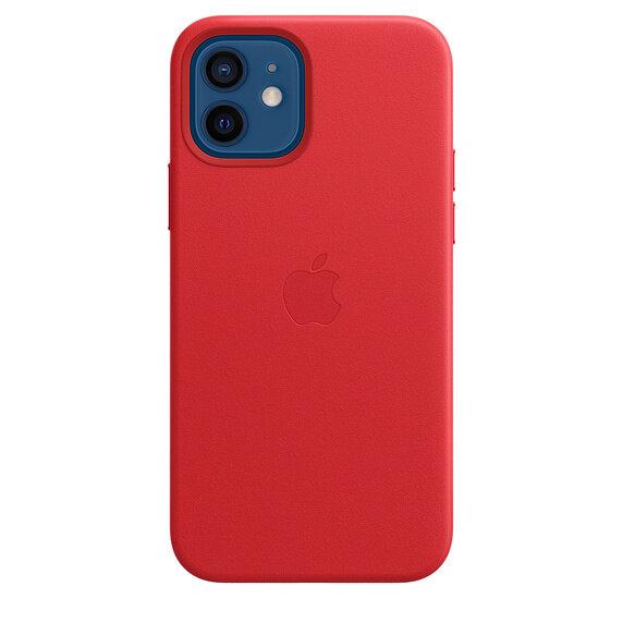 Кожен Калъф от Apple за iPhone 12/12 Pro с MagSafe - (PRODUCT)RED