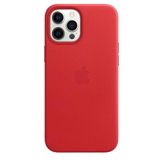 Кожен Калъф от Apple за iPhone 12 Pro Max с MagSafe - (PRODUCT)RED