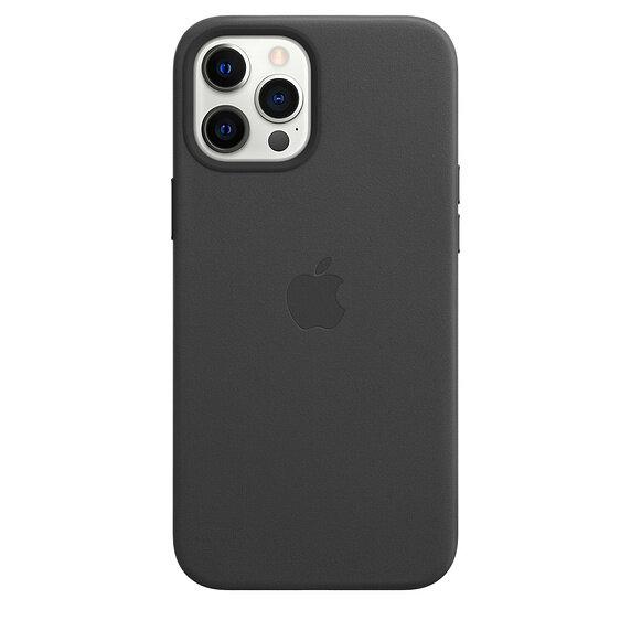 Кожен Калъф от Apple за iPhone 12 Pro Max с MagSafe - Black