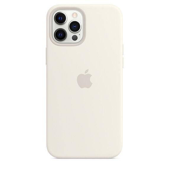Силиконов Калъф от Apple за iPhone 12 Pro Max с MagSafe - White