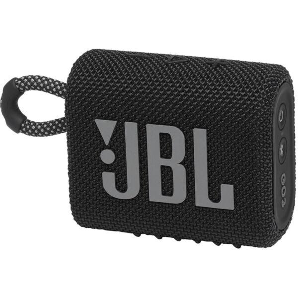 Тонколони - JBL GO 3 BLK Portable Waterproof Speaker