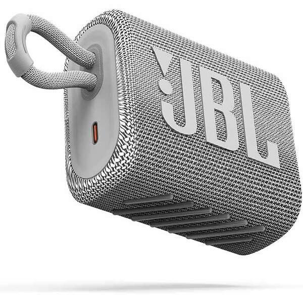 Тонколони - JBL GO 3 WHT Portable Waterproof Speaker