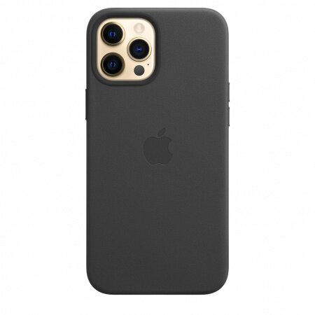 Кожен Калъф от Apple за iPhone 12/12 Pro с MagSafe - Black
