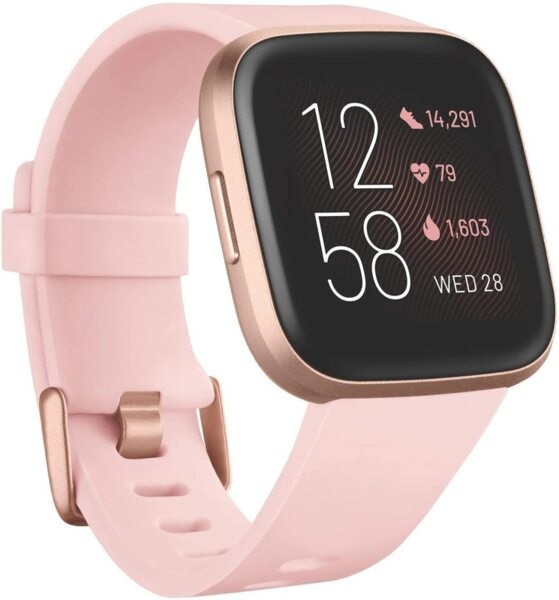 Смартчасовник Fitbit Versa 2 (NFC) - Petal/Copper Rose