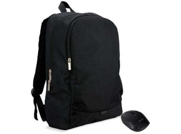 """Раница, Acer 15.6"""" ABG950 Backpack black and Wireless mouse black"""