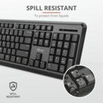 Комплект, TRUST ODY Wireless Keyboard and Mouse BG Layout