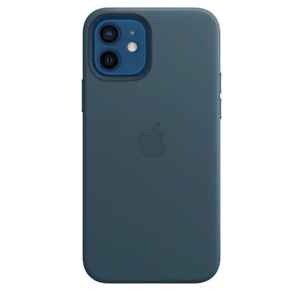Калъф от Apple Leather Case with MagSafe за  iPhone 12/12 Pro - Baltic Blue  (Seasonal Fall 2020)
