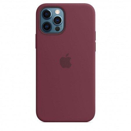 Калъф от Silicone Case with MagSafe за Apple iPhone 12/12 Pro Plum (Seasonal Fall 2020)