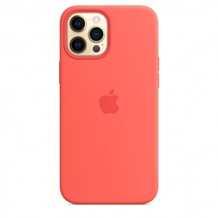 Калъф от Silicone Case with MagSafe за Apple iPhone 12/12 Pro Pink Citrus (Seasonal Fall 2020)