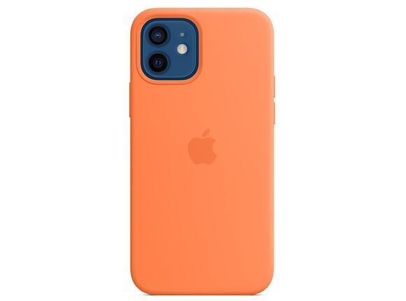 Калъф от Silicone Case with MagSafe за Apple iPhone 12/12 Pro Kumquat (Seasonal Fall 2020)