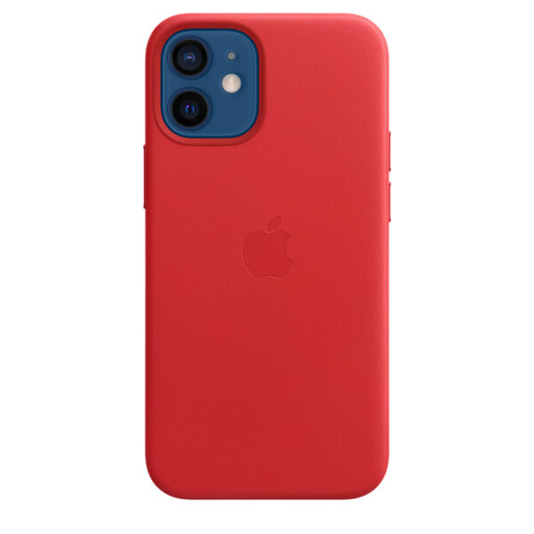 Калъф от Leather Case with MagSafe - за Apple iPhone 12 miniRED