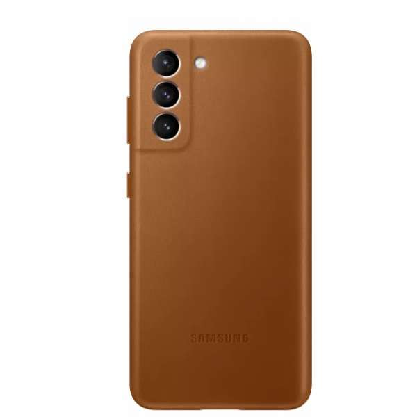 Калъф от Leather Cover за Samsung S21 Brown