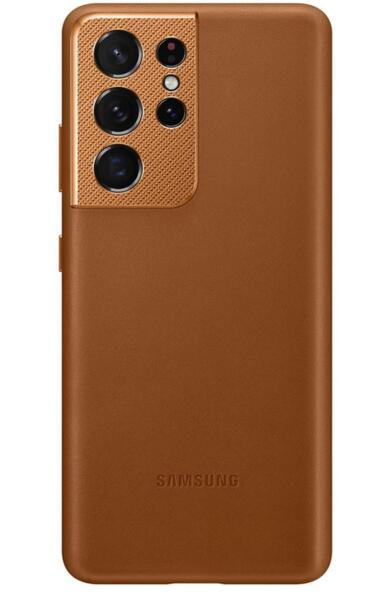 Калъф от Leather Cover за Samsung S21Ultra Brown
