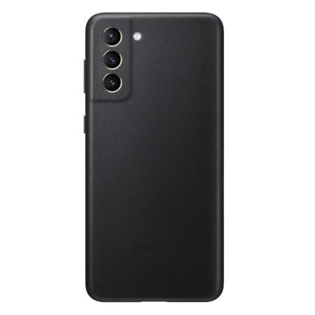 Калъф от Leather Cover за Samsung S21+ Black