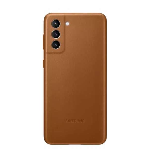 Калъф от Leather Cover за Samsung S21+ Brown