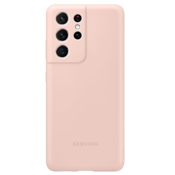 Калъф от Silicone Cover за Samsung S21Ultra Pink