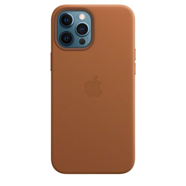 Kалъф от Leather Case за Apple iPhone 12 Pro Max with MagSafe - Saddle Brown