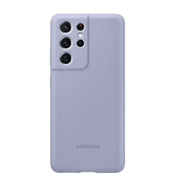 Калъф от Silicone Cover за Samsung S21Ultra Violet