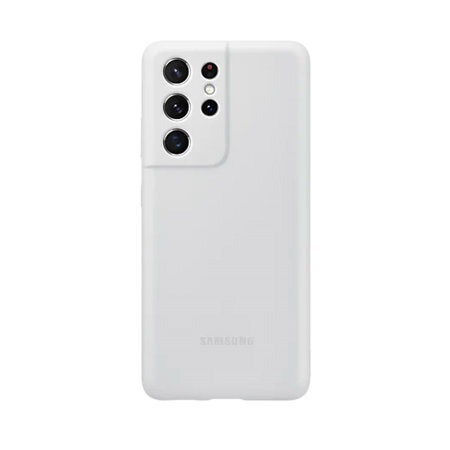Калъф от Silicone Cover за Samsung S21Ultra Light Gray