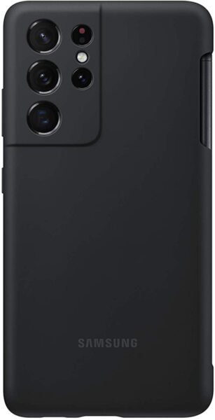 Калъф от Silicone Cover with S Pen за Samsung S21Ultra Black