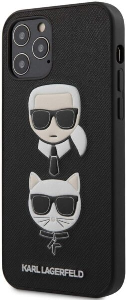 Калъф от Karl Lagerfeld за Apple iPhone 12/12 Pro Saffiaono K/C Heads