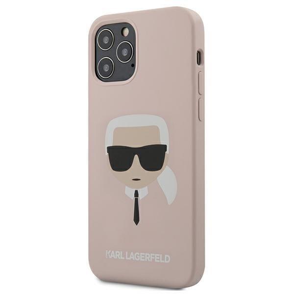 Силиконов калъф от Karl Lagerfeld Head Silicone Cover за iPhone 12/12 Pro - Light Pink