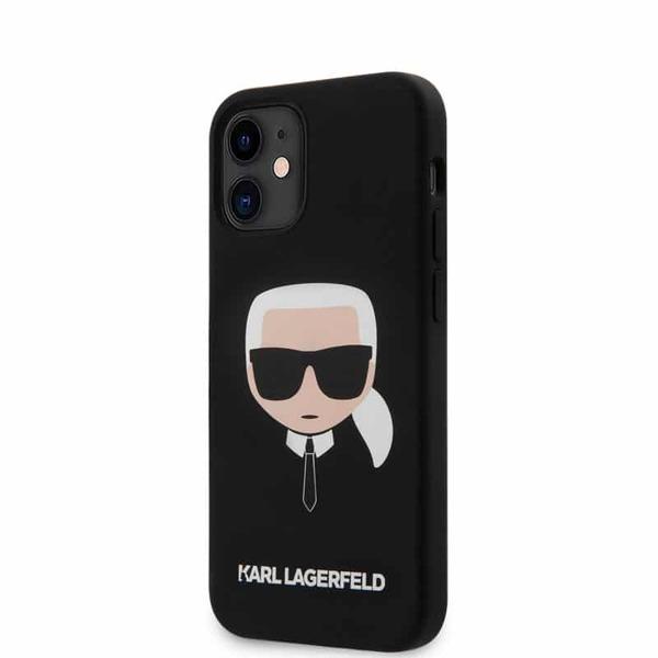 Силиконов калъф от Karl Lagerfeld Head Silicone Cover за iPhone 12/12 Pro - Black