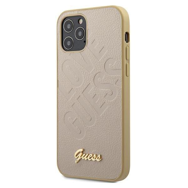 Калъф от Guess Iridescent Love Cover за iPhone 12/12 Pro - Gold