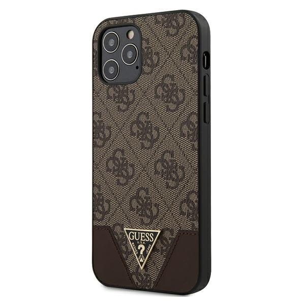 Калъф от Guess 4G Triangle Cover за iPhone 12/12 Pro - Brown