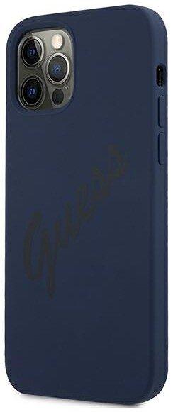 Силиконов Калъф Guess Vintage Cover за iPhone 12/12 Pro - Blue