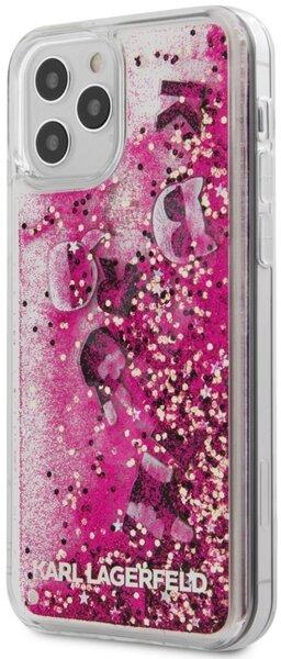 Калъф от Karl Lagerfeld Liquid Glitter Charms Cover за iPhone 12/12 Pro - Pink