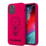 Силиконов Калъф от Karl Lagerfeld Iconic Outline за iPhone 12/12 Pro - Pink