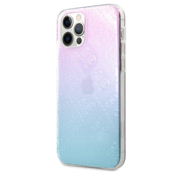 Калъф от Guess 3D Raised Cover за iPhone 12/12 Pro - Iridescent