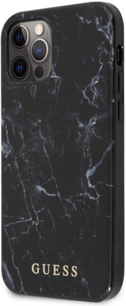Калъф от Guess PC/TPU Marble Cover за iPhone 12/12 Pro - Black