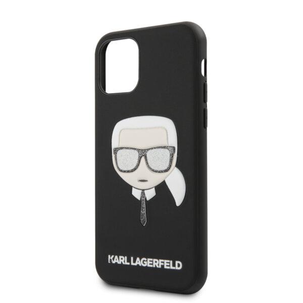 Калъф от Karl Lagerfeld за Apple iPhone 12/12 Pro Glitter Head - Black