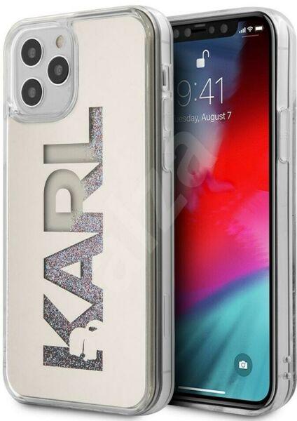 Калъф от Karl Lagerfeld Liquid Glitter Multi Mirror Cover за iPhone 12/12 Pro - Silver