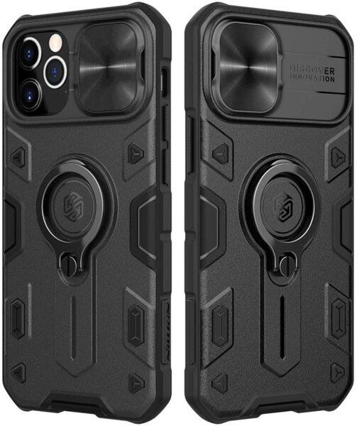 Калъф от Nillkin CamShield Armor Hard Case за iPhone 12/12 Pro - Black