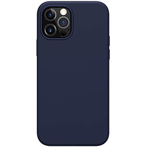 Силиконов Калъф от Nillkin за Apple iPhone 12/12 Pro Flex Pure Pro с Magsafe Liquid Magnetic Function Anti Finger Print с Inner Microfibre - Blue