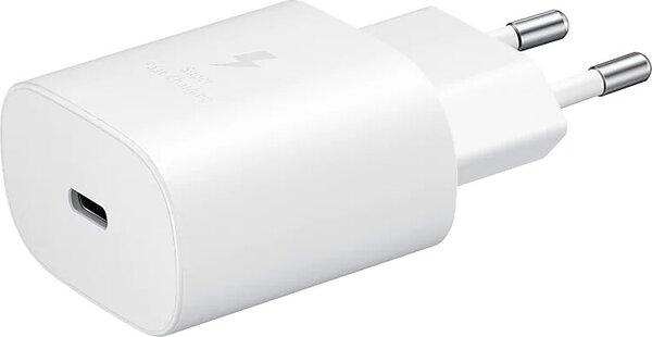Зарядно устройство - Samsung Super Fast Travel Charger, 25W, USB-C, White