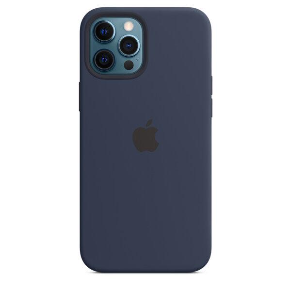 Силиконов Калъф от Apple за iPhone 12 Pro Max с MagSafe - Deep Navy