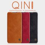 Калъф Nillkin Qin Book Case for Samsung Galaxy A12 Brown