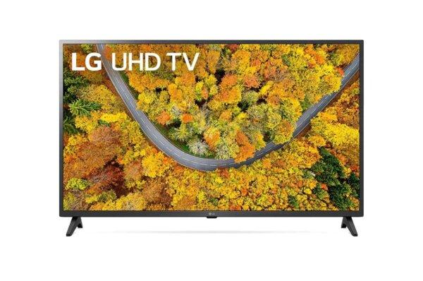 "LG 43UP75003LF, 43"" 4K IPS UltraHD TV 3840 x 2160, DVB-T2/C/S2, webOS Smart TV, ThinQ AI, Quad Core Processor 4K, WiFi 802.11ac, HDR10, HLG, AI Sound, Voice Controll, Miracast / AirPlay 2,"