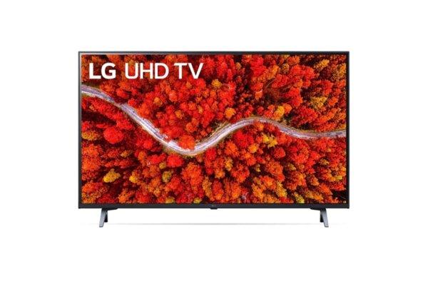 LG 50UP80003LA, 50'' 4K IPS UltraHD TV 3840 x 2160, DVB-T2/C/S2, webOS Smart TV, ThinQ AI, Quad Core 4K, WiFi 802.11ac, HDR10, HLG, ALLM/HGiG,  AI Sound, Voice Controll, Wi-Di, Miracast /