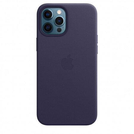 Кожен Калъф от Apple за iPhone 12 Pro Max  with MagSafe - Deep Violet (Seasonal Spring2021)