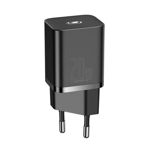 Зарядно Baseus CCSUP-B01 Super Si Quick Charger USB-C 20W Black