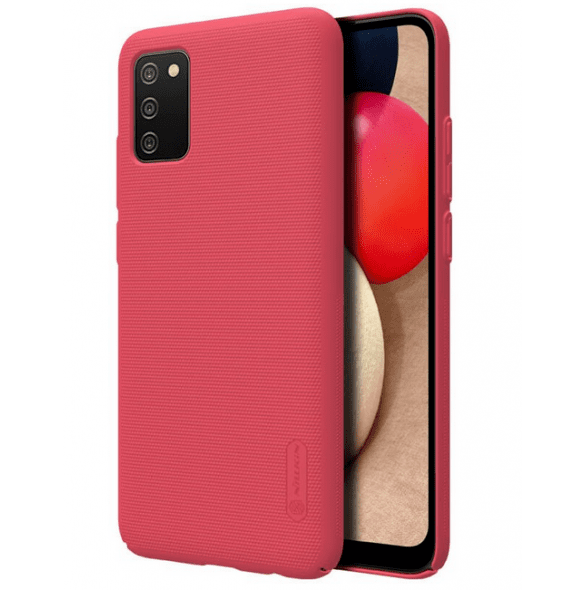 Калъф от Nillkin Super Frosted Back Cover за Samsung Galaxy A02s Bright Red
