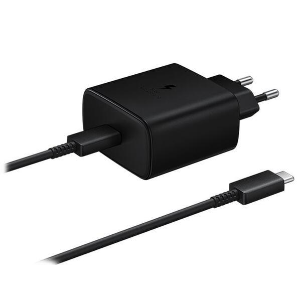 Зарядно у-во Samsung Super Fast Travel Charger 45W, USB-C - Black